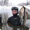 Подводная охота на зимних карасей
