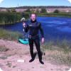 Река Пичуга, приток реки Волги, не далеко от г. Волгоград